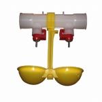 Поилка двойная с креплением и каплеулавливателем ПКНК-24/360, (возможна комплектация в сборе)