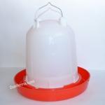 Вакуумная поилка 10 литров (красная)