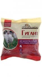 Премикс Гигант (для цыплят-бройлеров от 4 х недель) 300 гр. на 60 кг корма