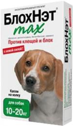 Капли БлохНэт max для собак от 10 до 20 кг 2 мл